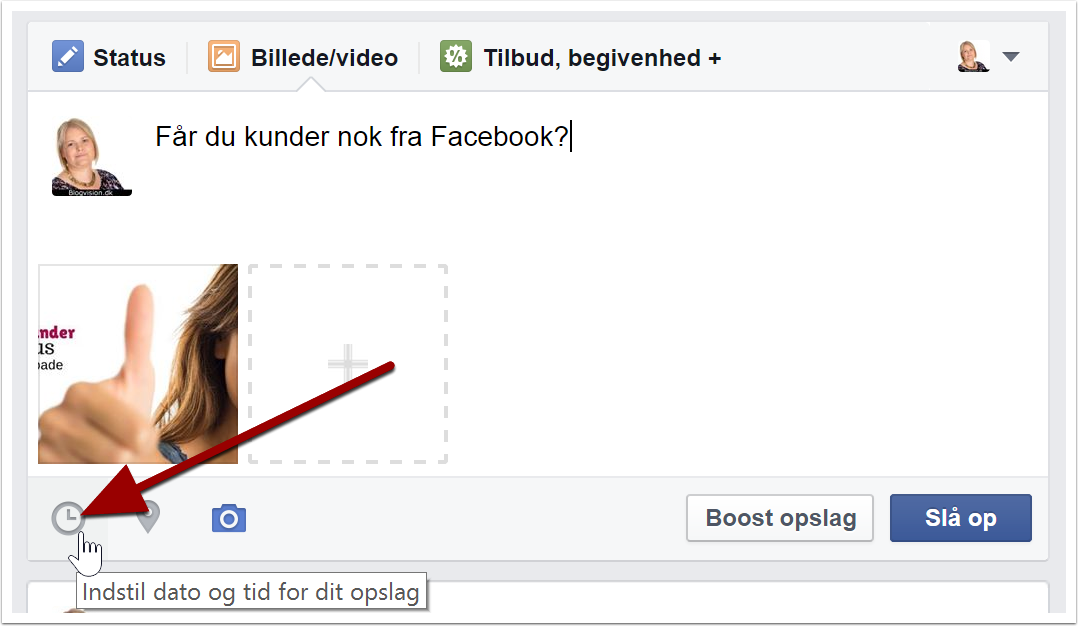 Facebook planlægningsværktøj